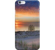 Sunset on Lake Michigan from Sleeping Bear Dunes National Lakeshore, Michigan iPhone Case/Skin