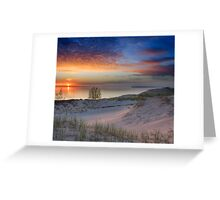 Sunset on Lake Michigan from Sleeping Bear Dunes National Lakeshore, Michigan Greeting Card