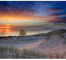 Sunset on Lake Michigan from Sleeping Bear Dunes National Lakeshore, Michigan Photographic Print