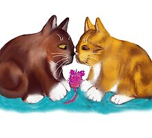 Nose to Nose over the Mouse Toy by NineLivesStudio