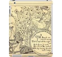 Walter Crane's Painting Book 1889 20 - The Peacock's Complaint Lines iPad Case/Skin