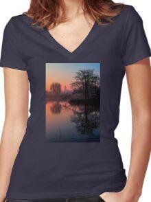 Misty Dawn Sydenham Women's Fitted V-Neck T-Shirt