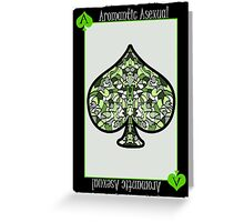 Ace of Spades - Green Greeting Card