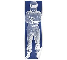 The Stig Pop Art Full Body WHITE Poster