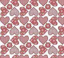 Hearts and Roses Pattern by helikettle