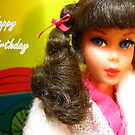 Barbie Happy Birthday Greeting Card by Vanessa Barklay