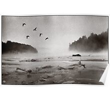 Geese Over Great Bay Poster