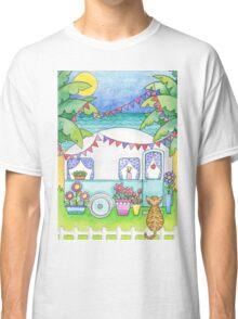Cat Art Caravan Painting Classic T-Shirt
