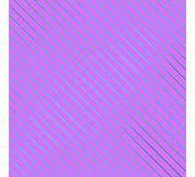 Bright Teal Pinstripe on Neon Purple Photographic Print