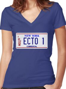 ECTO 1 Women's Fitted V-Neck T-Shirt