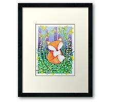 Foxy Fox Print Framed Print