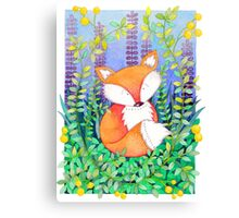Foxy Fox Print Canvas Print