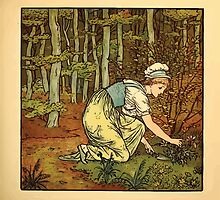 Walter Crane's Painting Book 1889 49 - On The Path Color by wetdryvac