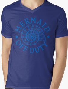 Mermaid Off Duty - blue Mens V-Neck T-Shirt