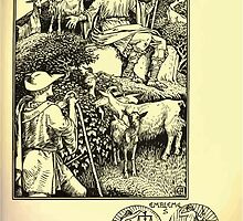 The shepheard's calender twelve aeglogues proportionable to the twelve monethes Newly adorned with twelve pictures and other devices by Walter Crane 1898 81 - July by wetdryvac