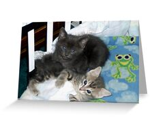 Crib Kitties Greeting Card