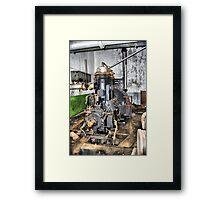 DEEP UNDERGROUND, Bateria de Cenizas, Costa Calida, Spain Framed Print