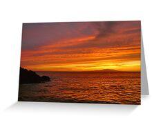 Fiery Makena Sunset Greeting Card