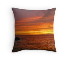 Fiery Makena Sunset Throw Pillow