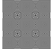Flickering geometric optical illusion pattern Photographic Print