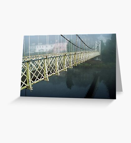 The Shakey Bridge In Colour Greeting Card