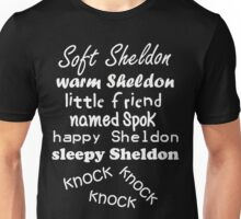Soft Sheldon, Warm Sheldon (white) Unisex T-Shirt