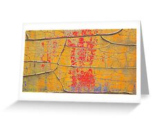 Rustic Colors of Age - Beautiful Grunge in Red and Orange  Greeting Card