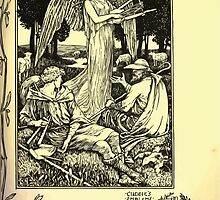 The shepheard's calender twelve aeglogues proportionable to the twelve monethes Newly adorned with twelve pictures and other devices by Walter Crane 1898 111 - October by wetdryvac