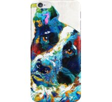 Colorful Dog Art - Irresistible - By Sharon Cummings iPhone Case/Skin