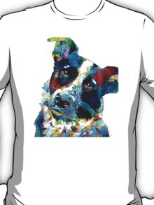 Colorful Dog Art - Irresistible - By Sharon Cummings T-Shirt