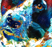 Colorful Dog Art - Irresistible - By Sharon Cummings Sticker