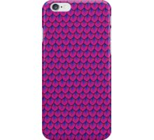 Blue Shadows on Magenta Mermaid Scale iPhone Case/Skin