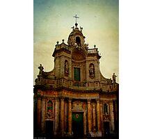 Basilica della Collegiata, Catania Photographic Print