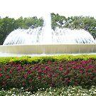 Downtown Houston Fountain by Glenn Esau