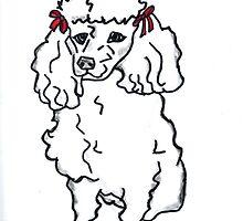 Poodle, Poodles, Pet, Dog, T-Shirt, Pillow, Tote by LeonaPaints