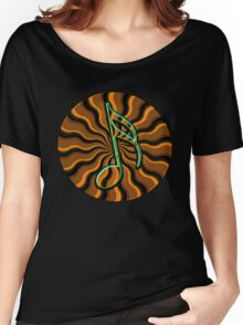 Earthy Semiquaver - 16th Note Music Symbol Women's Relaxed Fit T-Shirt