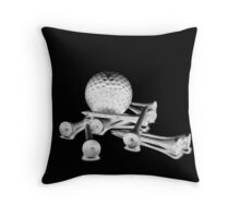 Golf Ball with Tees Throw Pillow