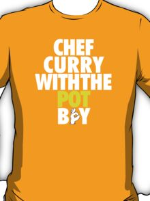 Chef Curry With The Pot Boy [With 3 Sign] T-Shirt
