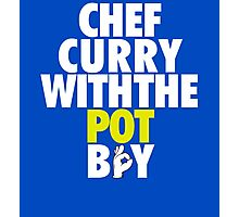 Chef Curry With The Pot Boy [With 3 Sign] Photographic Print