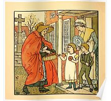 Walter Crane's Painting Book 1889 28 - Hot Cross Buns Color Poster