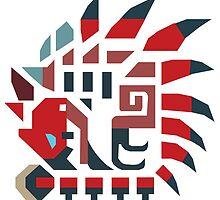Rathalos Monster Hunter Symbol Design by niymi