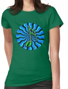 Springtime Semiquaver - 16th Note Music Symbol Womens Fitted T-Shirt