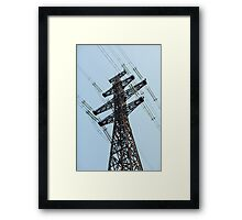 high voltage power line Framed Print