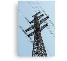 high voltage power line Canvas Print