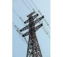 high voltage power line Photographic Print