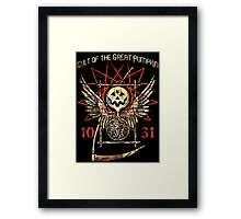 Cult of the Great Pumpkin: Thanatos Hourglass Framed Print