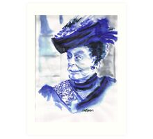 Lady Violet the Dowager Art Print