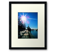 Land[e]scapes - Now is the Winter of our discontent made glorious Summer by this Sun of... Verona Framed Print