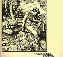 The shepheard's calender twelve aeglogues proportionable to the twelve monethes Newly adorned with twelve pictures and other devices by Walter Crane 1898 31 - January by wetdryvac