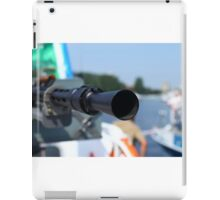 barrel heavy machine gun  iPad Case/Skin